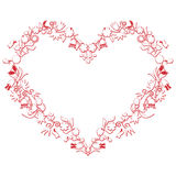 Valentines day Love Heart Shape with 3d  drawing Stock Photo