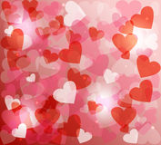 Valentines day love heart shape love bokeh background Stock Images
