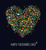 Valentines day love heart shape nature color Stock Photography