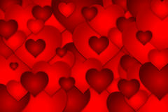 Valentines Day love hearts background royalty free stock image