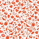 Valentines Day Love seamless pattern Stock Images