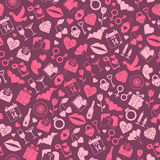 Valentines Day Love seamless pattern Royalty Free Stock Images