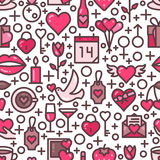 Valentines Day Love seamless pattern Royalty Free Stock Photography