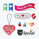 Valentines day Love symbol design vector Stock Photography
