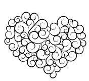 Valentines day & love symbol. Silhouette of heart Royalty Free Stock Images