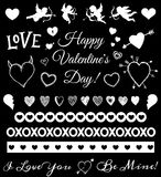 Valentines Day Love Theme Collection Icons Clipart Stock Image