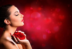 Valentines Day Makeup - Beauty Model Stock Image