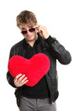 Valentines day man player Stock Images
