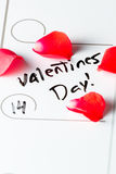Valentines day marked on a calendar Stock Images