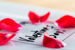 Valentines day marked on a calendar Stock Photography