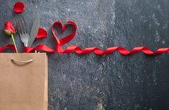 Valentines day meal background royalty free stock image