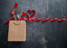 Valentines day meal background royalty free stock photography