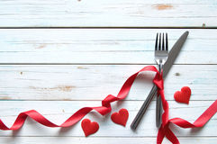 Valentines day meal background Royalty Free Stock Images