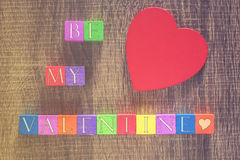 Valentines day message Royalty Free Stock Photos