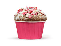 Valentines day muffin Stock Images
