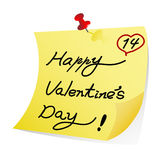 Valentines Day note Royalty Free Stock Photos