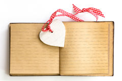 Valentines day note heart Royalty Free Stock Photos