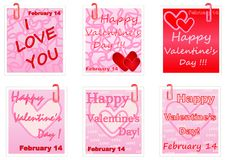 Valentines Day notes Royalty Free Stock Image