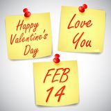 Valentines Day Notes Royalty Free Stock Photos