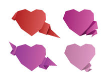 Valentines day origami hearts Royalty Free Stock Photography