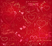 Valentines day ornate background Royalty Free Stock Image