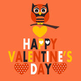 Valentines day Owl Stock Photo