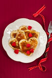 Valentine's Day Pancake Hearts Royalty Free Stock Photo