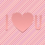 Valentines Day paper Abbreviation I love U Royalty Free Stock Images