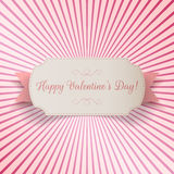 Valentines Day paper bend Banner Template Stock Image