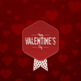 Valentines Day paper Card with Place for Text Royalty Free Stock Photo