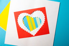 Valentines Day. Paper Heart Royalty Free Stock Image