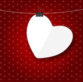 Valentines day paper heart backgroung, vector Stock Photo