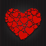 Valentines Day Paper Heart Backgroung, Vector Stock Photography