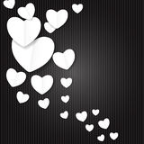 Valentines Day Paper Heart Backgroung, Vector Stock Images