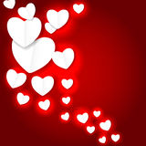 Valentines day paper heart backgroung, vector Royalty Free Stock Photos