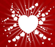 Valentines day paper heart card  illustration Royalty Free Stock Photos