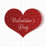 Valentines Day paper Heart Card with Pattern Stock Photos