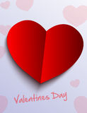 Valentines Day paper heart Stock Photo