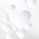 Valentines Day with paper heart shape. EPS 10 Stock Images