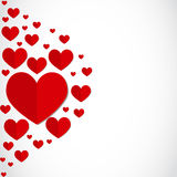 Valentines day paper hearts greeting card Royalty Free Stock Image