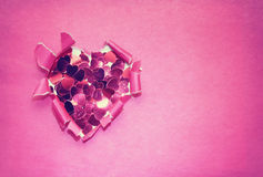Valentines day paper pink background Stock Photo