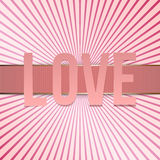 Valentines Day paper pink Letters and Ribbon Royalty Free Stock Photos