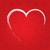 Valentines day paper red heart. Heart from paper Valentines day card  background Stock Photos