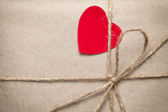 Valentines day parcel Stock Photography