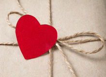 Valentines day parcel Royalty Free Stock Photo