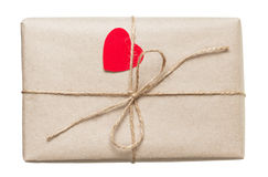 Valentines day parcel Royalty Free Stock Image