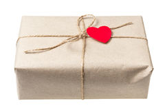 Valentines day parcel Royalty Free Stock Photography