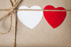 Valentines day parcel Stock Photo