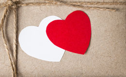 Valentines day parcel Stock Images