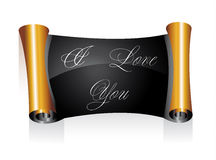 Valentines Day Parchment I Love You Message Royalty Free Stock Images